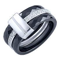 Серебряное кольцо SilverBreeze с керамикой 16 (1903896)