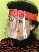 Захисна маска- щиток для очей і обличчя червона