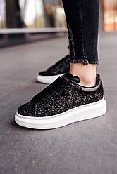 Женские кроссовки Swarovski Premiumd (черные)