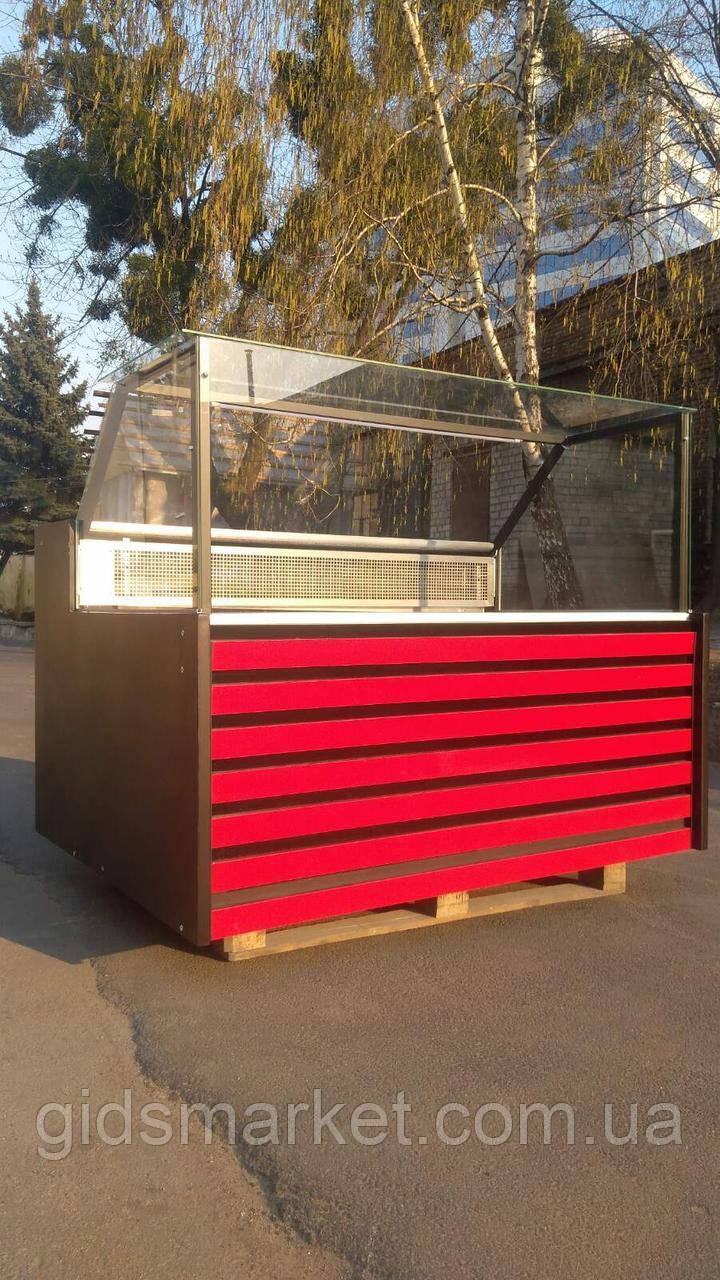 Витрина холодильная кубическая стекло 1,50 м. Витрина куб б/у.