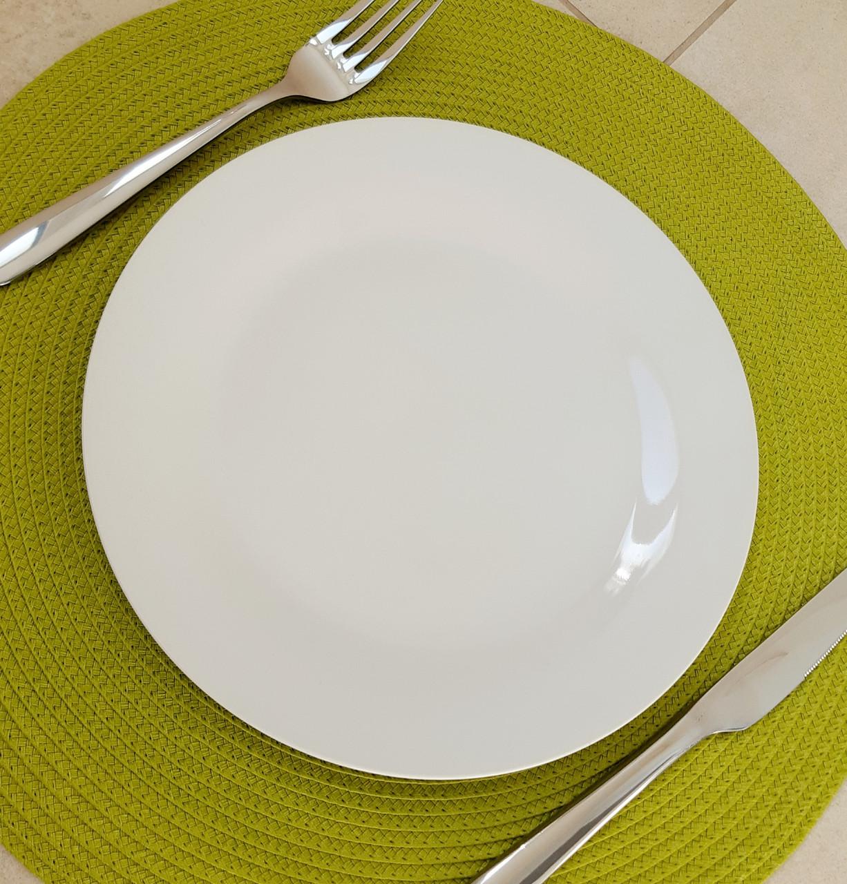 Тарелка подставная белая 230 мм (фарфор) 4404