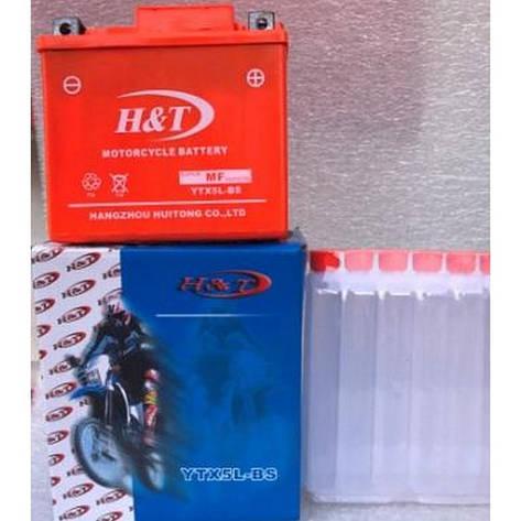 Аккумулятор H&T 5Ah 12V (YTX5L-BS), фото 2