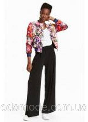Женские брюки палаццо чёрные H&M