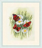 Набор для вышивки крестом Золотое Руно БР-020 «Волшебные бабочки»