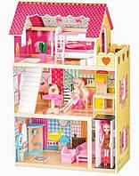 Детский игровой кукольный домик Ecotoys 4120 Roseberry + лифт (ігровий ляльковий будиночок для ляльок)