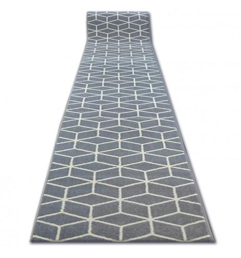 Ковер Лущув BCF Base 100x520 см серый прямоугольный (Q2543)