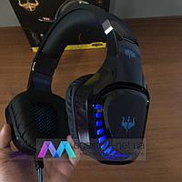 Игровые наушники с микрофоном Ovleng GT96 геймерские для компьютера и ноутбука с RGB подсветкой