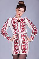 Женская вязаная вышиванка с длинным рукавом