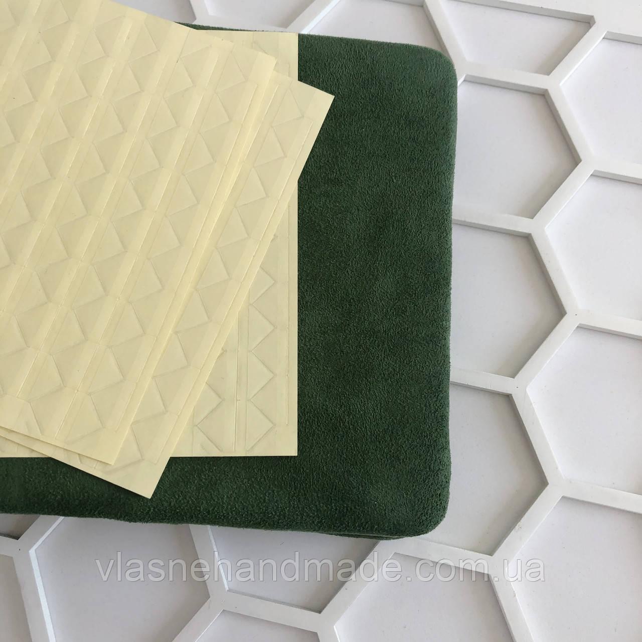 Кутики для фото силіконові - прозорі на бежевій основі - 102 шт.