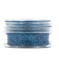 Глиттер для декора ногтей в баночке, цвет Голубой