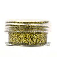 Глиттер для декора ногтей в баночке, цвет Золото