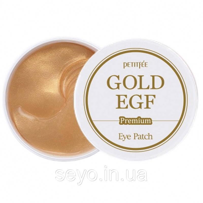 Гидрогелевые патчи для век с золотом и EGF Petitfee Premium Gold & EGF Eye Patch, 60 шт