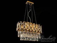 Хрустальная люстра овальной формы для гостиной (Арт: CDE6503/600x300-G)