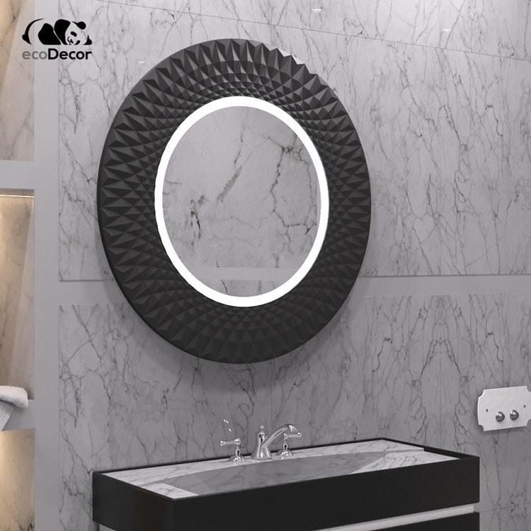 Дзеркало у ванну чорне Luanda K2