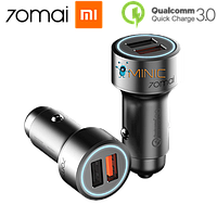 Автомобильное зарядное устройство 70mai Dual USB QC 3.0 Car Charger (MidriveCC02)