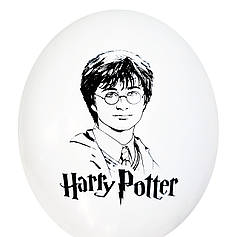 "0440 Шар 12"" (30 см) Гарри Поттер на белом (BelBal)"