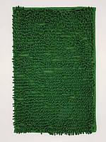Килимок для ванної з мікрофібри Лапша 40*60см. темно зелений.