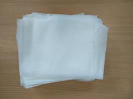 Заготовка для пошива не медицинской маски. спанбонд 28г/м.кв (голубой/белый)