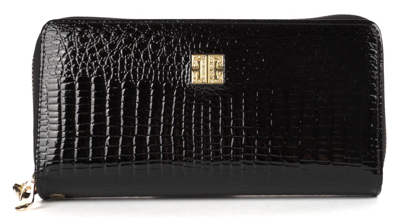 Вместительный женский кошелек барсетка на две молнии высокого качества FUERDANNI art. 319-2