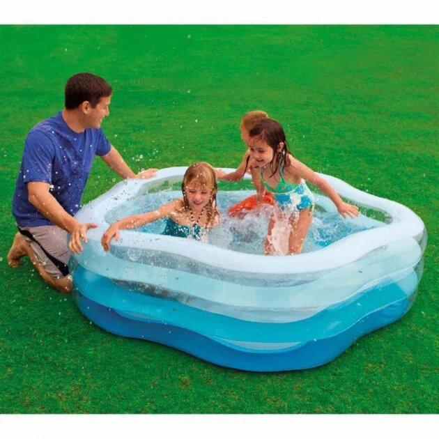 Дитячий надувний басейн Intex 56495 185 см х 180 см х 53 см