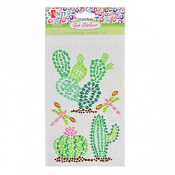 Набор аппликаций Santi из кристаллов самоклеящихся «Trendy Cactus», 9.5*15 см.,  742536 Santi