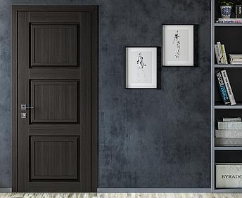 Двери ATLANTIC A001. Полотно+коробка+1 к-т наличников, срощенный брус сосны, эко-шпон, фото 2