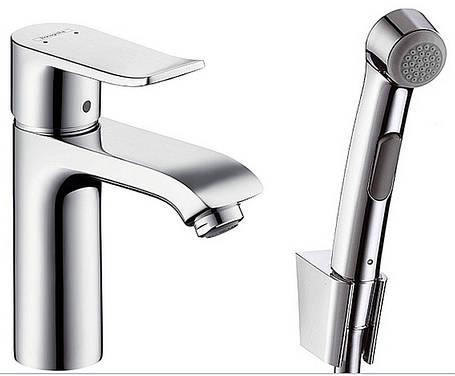 Смеситель для умывальника Hansgrohe Metris 100 с гигиеническим душем - 31285000, фото 2