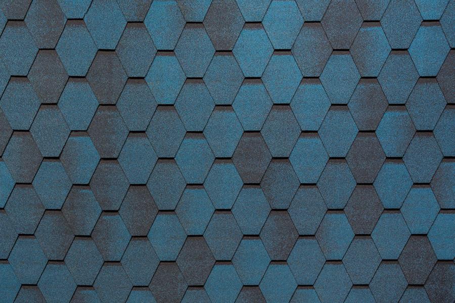 Бітумна черепиця Tegola Super Mosaiк Синя ніч