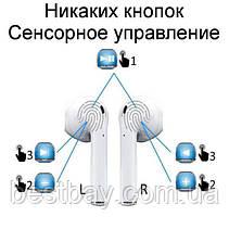 Беспроводные наушники i11-TWS, блютуз наушники Airpods, фото 3