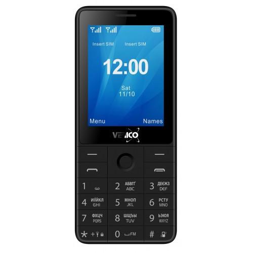 Кнопочный телефон с камерой и мощной батареей на 2 сим карты Verico Qin S282 Black