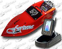 Кораблик для прикормки Фортуна з ехолотом Toslon TF500