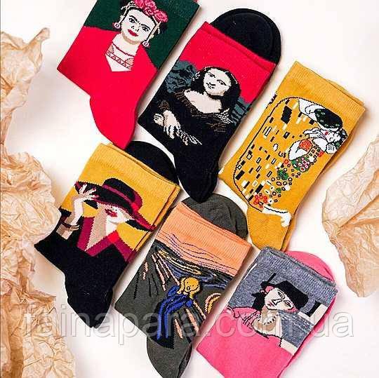 Женские носки с картинами художников