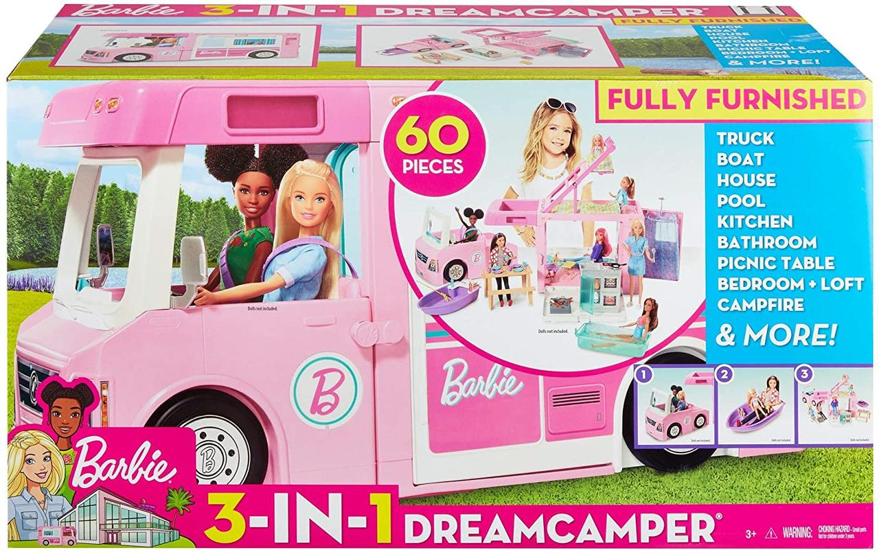 Игровой набор Барби Трейлер для путешествий3 в 1 Barbie 3-in-1 Dream Camper Vehicle