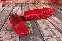 Балетки женские кожа красный флотар