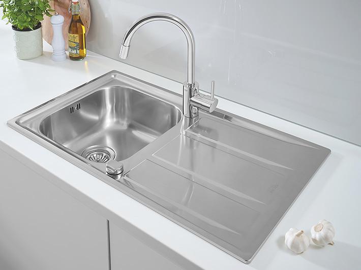 Стальная кухонная мойка Grohe EX Sink 31552SD0 серия K200 8650