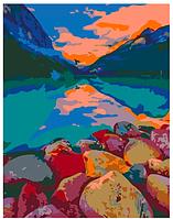 Картина по номерам Озеро Луиза, Канада