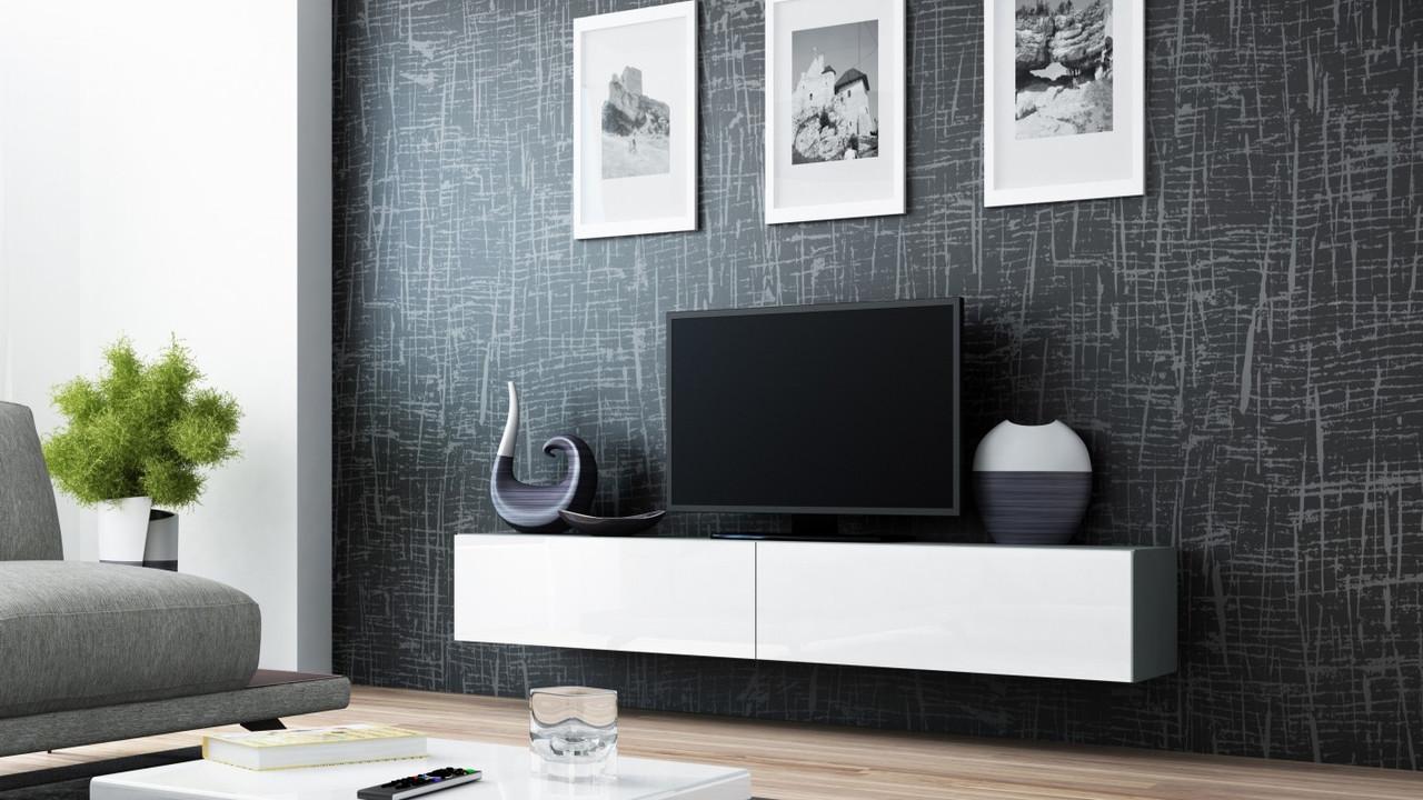 ТВ тумба RTV VIGO 180 (серый/белый) (CAMA)