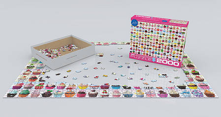 Пазл 2000 Eurographics Кекси (Cupcakes Galore), фото 2