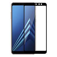 Защитное Full Glue 3D стекло Samsung A8 plus 2018/A730 черное