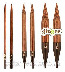 З'ємні дерев'яні спиці Ginger KnitPro (Джінджер КнітПро) 10.0 мм