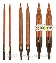 З'ємні дерев'яні спиці Ginger KnitPro (Джінджер КнітПро) 12.0 мм