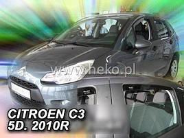 Дефлекторы окон (ветровики)  Citroen C3 2009-2017 4D  4шт (Heko)