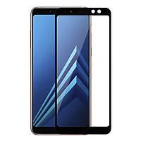 Защитное Full Glue 3D стекло Samsung A8 2018/A530 черное