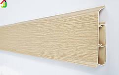 Плінтус Ідеал Система 213 Дуб Північний 80мм пластиковий для підлоги, IDEAL високий з м'якими краями