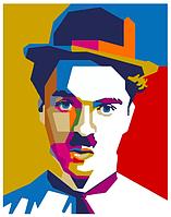 Картина по номерам Чарли Чаплин