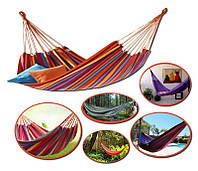 🔥 Мексиканский подвесной гамак из 100% хлопка, без планок 80x200 - для квартиры, дачи и пикников