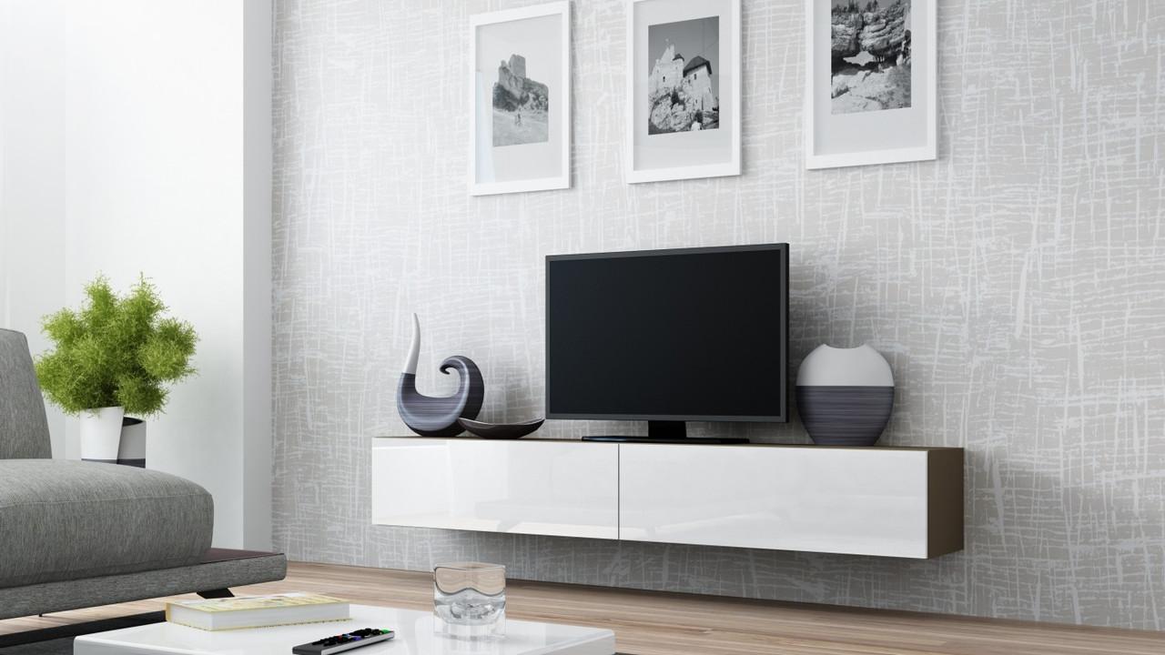 ТВ тумба RTV VIGO 180 (латте/белый) (CAMA)
