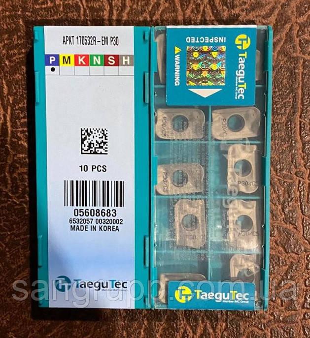 Пластина твердосплавная TAEGUTEC APKT 170532R-EM P30