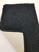 Коврик для ванной из микрофибры лапша 40х60см.Чёрный цвет., фото 1