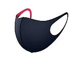Трехслойная защитная маска многоразовая (неопрен), малиновая, фото 8
